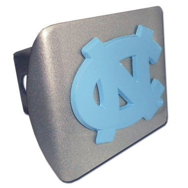 University of North Carolina Blue Emblem on Brushed Hitch Cover