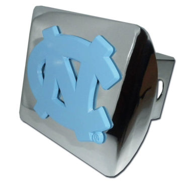University of North Carolina Blue Emblem on Chrome Hitch Cover
