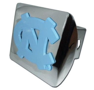 University of North Carolina Blue Emblem on Chrome Hitch Cover