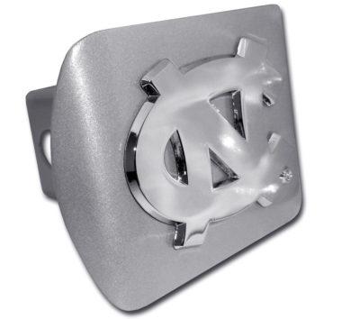 University of North Carolina Emblem on Brushed Hitch Cover