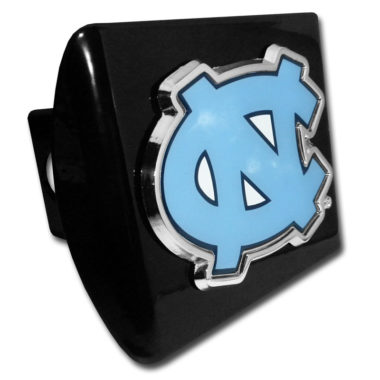 University of North Carolina Color Emblem on Black Hitch Cover