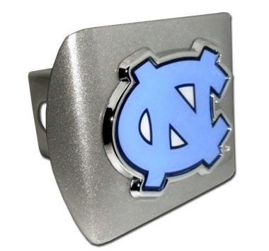 University of North Carolina Color Emblem on Brushed Hitch Cover