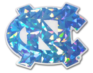 University of North Carolina Blue 3D Reflective Decal