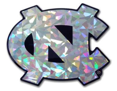 University of North Carolina Silver 3D Reflective Decal