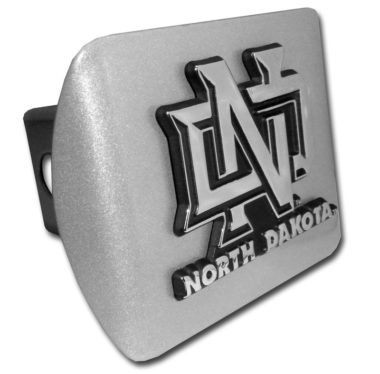 University of North Dakota Emblem on Brushed Hitch Cover