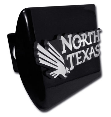 University of North Texas Emblem on Black Hitch Cover
