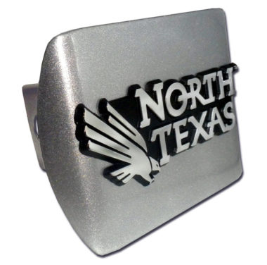 University of North Texas Emblem on Brushed Hitch Cover image