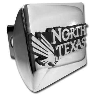 University of North Texas Emblem on Chrome Hitch Cover