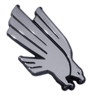 University of North Texas Eagle Chrome Emblem