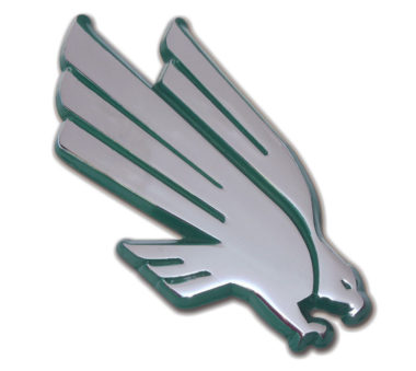 University of North Texas Eagle Green Chrome Emblem