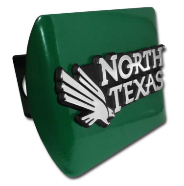 University of North Texas Emblem on Green Hitch Cover