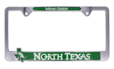 North Texas Mean Green License Plate Frame
