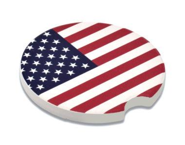 USA Flag Car Coaster - 2 Pack