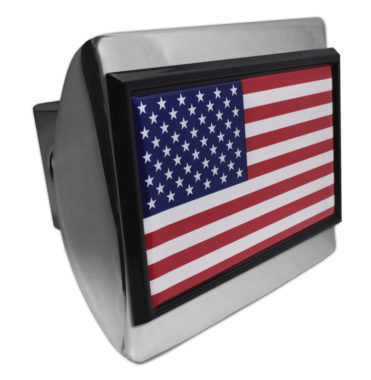USA Flag Chrome Hitch Cover