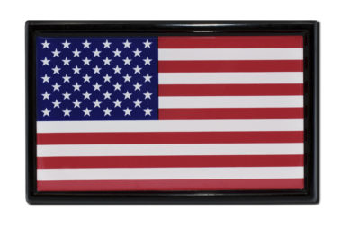 USA Flag Black Emblem
