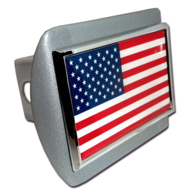American Flag Brushed Hitch Cover