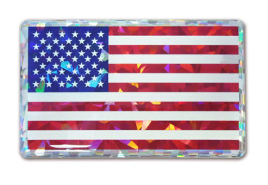 American Flag 3D Reflective Decal image
