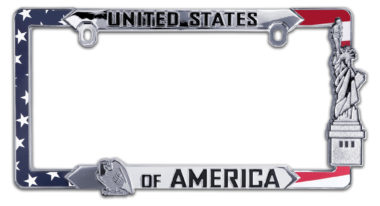 USA Flag License Plate Frame