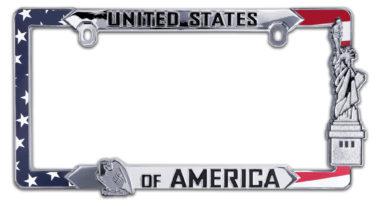 USA Flag License Plate Frame image