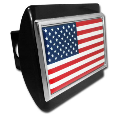 American Flag Black Hitch Cover image