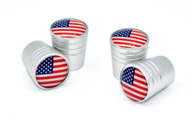 USA Valve Stem Caps - Matte Smooth
