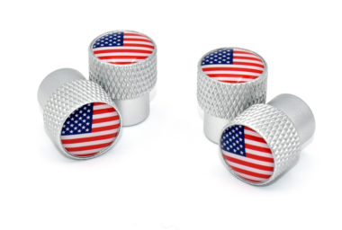 USA Valve Stem Caps - Matte Knurling