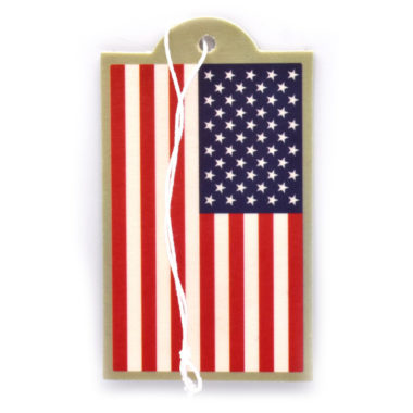 USA Flag Air Freshener 6 Pack
