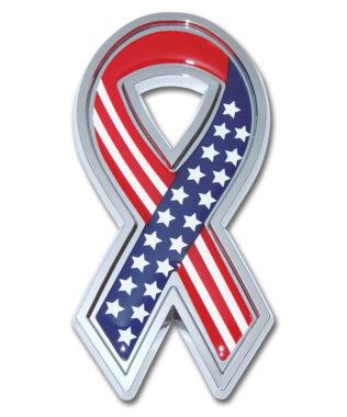 USA Ribbon Chrome Emblem