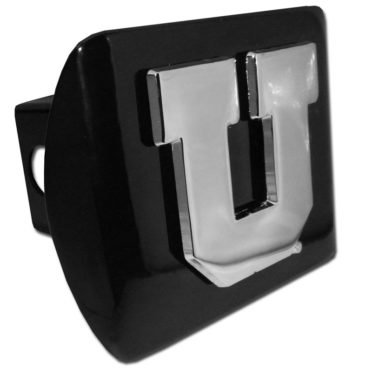 University of Utah Emblem on Black Hitch Cover