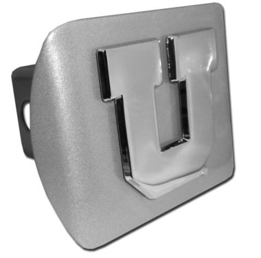 University of Utah Emblem on Brushed Hitch Cover
