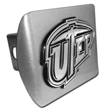 Texas at El Paso Emblem on Brushed Hitch Cover