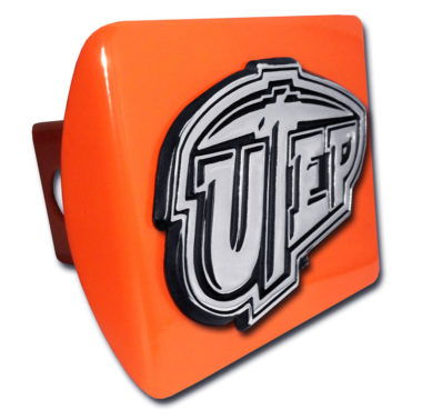Texas at El Paso Emblem on Orange Hitch Cover