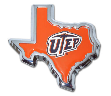 Texas at El Paso Texas Shape Chrome Emblem