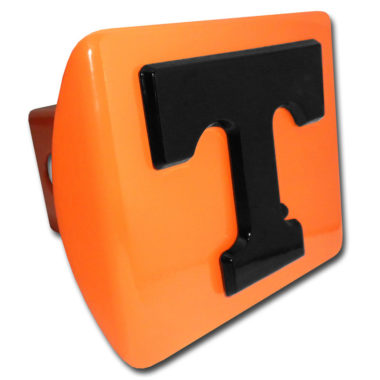 University of Tennessee Black Emblem on Orange Hitch Cover