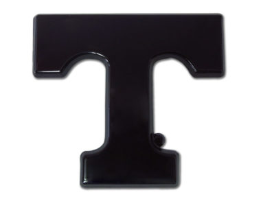 University of Tennessee Black Powder-Coated Emblem