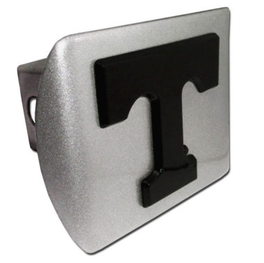 University of Tennessee Black Emblem on Brushed Hitch Cover