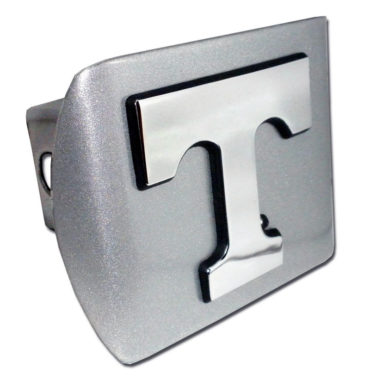 University of Tennessee Emblem on Brushed Hitch Cover