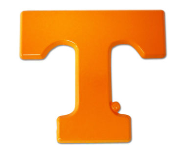 University of Tennessee Orange Powder-Coated Emblem