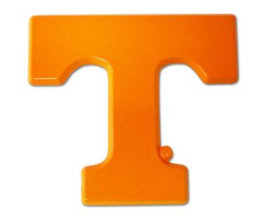University of Tennessee Orange Powder-Coated Emblem