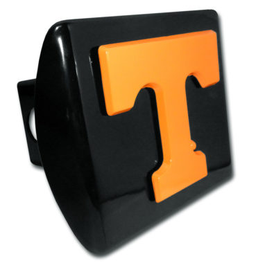 University of Tennessee Orange Emblem on Black Hitch Cover