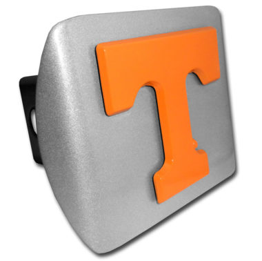 University of Tennessee Orange Emblem on Brushed Hitch Cover