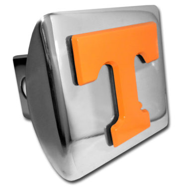 University of Tennessee Orange Emblem on Chrome Hitch Cover