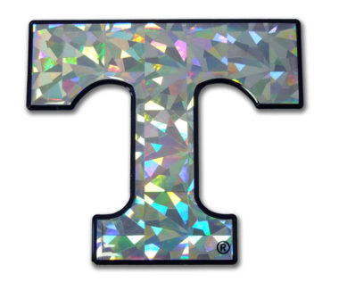 University of Tennessee Silver 3D Reflective Decal image