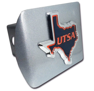 Texas at San Antonio Emblem on Brushed Hitch Cover