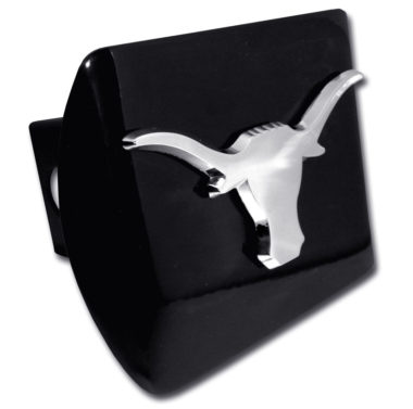 University of Texas Longhorn Emblem on Black Hitch Cover