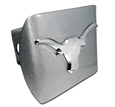 University of Texas Longhorn Emblem on Brushed Hitch Cover