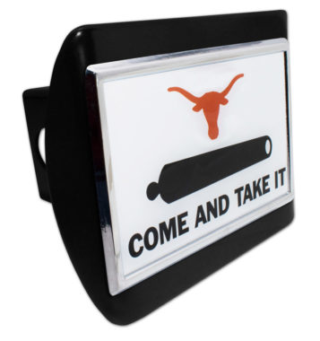 University of Texas Cannon Emblem on Black Hitch Cover