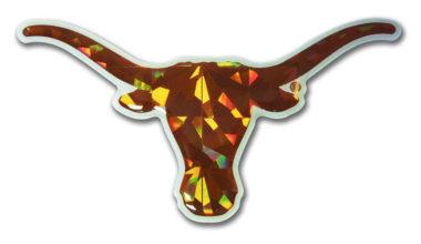University of Texas Longhorn Orange 3D Reflective Decal image