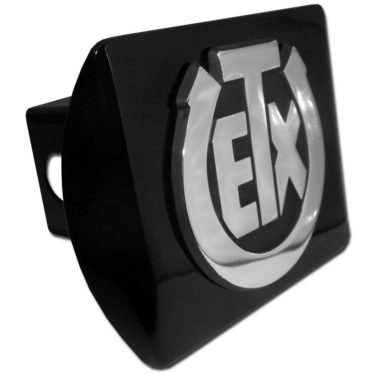 University of Texas Exes Emblem on Black Hitch Cover