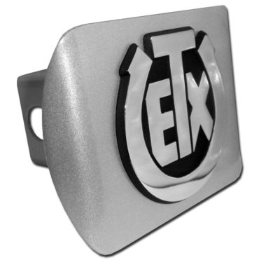 University of Texas Exes Emblem on Brushed Hitch Cover